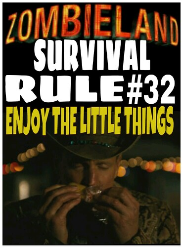Zombieland rule number 32 enjoy the little things