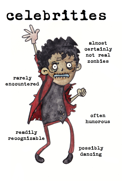 celebrities zombies