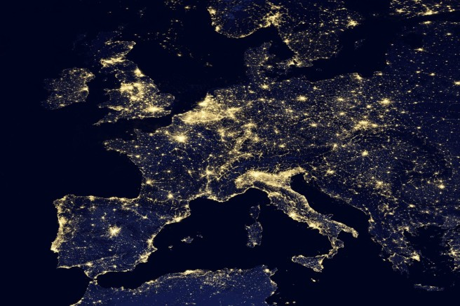 europe at night from space nasa zombie population map europe