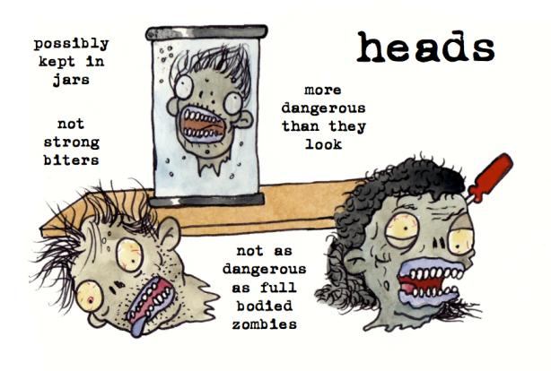 heads zombie