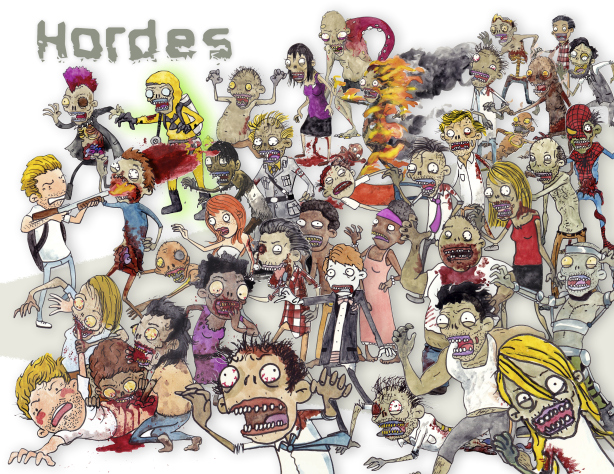 hordes zombies