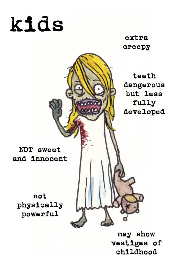 kids zombies child