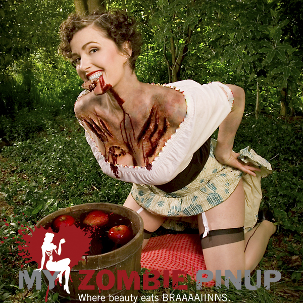 Zombie pin up calender april 2009
