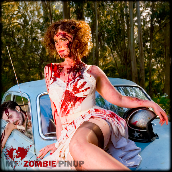 Zombie pin up calender april