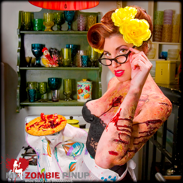 Zombie pin up calender july
