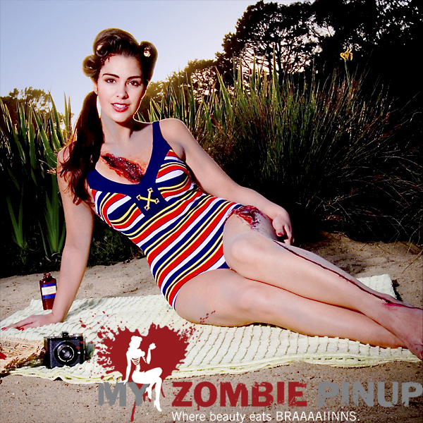 Zombie pin up calender june 2009