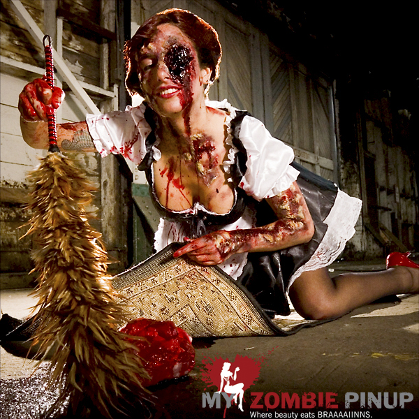 Zombie pin up calender march 2009