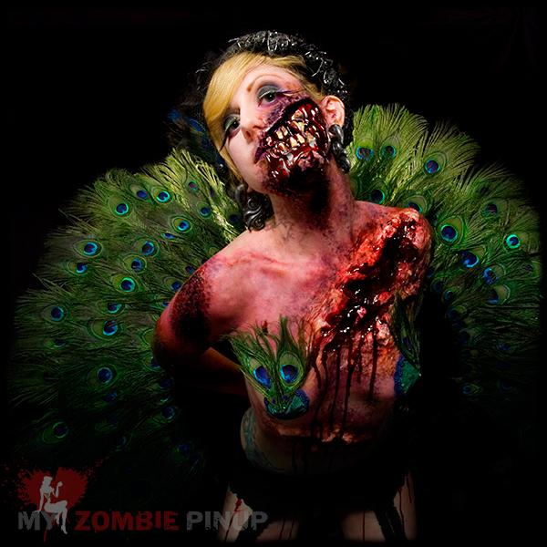 Zombie pin up calender november