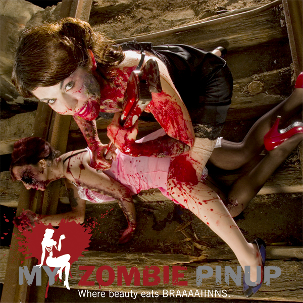 Zombie pin up calender october 2009